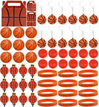 Basketball Birthday Gifts Party Favors Supplies for Kids- (72 Pcs) Mini Basketball, Keychains, Wristbands, Badges, Blower ...