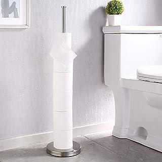 KES Porte Papier Toilette Support Papier Toilettes Sur Pied SUS304 Acier Inoxydable WC Porte Rouleau Derouleur Rangement M...