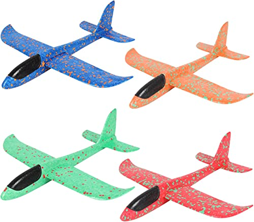 Aviation Series Fun-Choo Toys Bundle 2 Airplane Gliders 1 Stomp Rocket 4 Parachutes with Army Man Great Outdoor Play for Kids Includes High-Flying Toys for Children