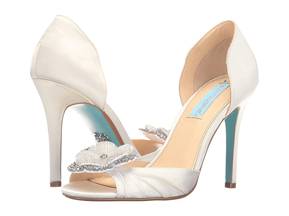 Blue by Betsey Johnson Emma (Ivory Satin) High Heels