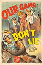 Our Gang - Don't Lie Vintage Poster USA c. 1942 60153 (12x18 SIGNED Print Master Art Print - Wall Decor Poster)