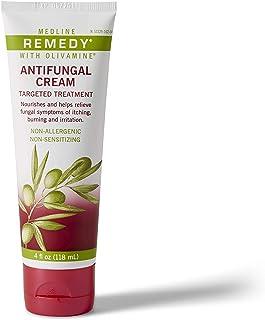 Medline Remedy Olivamine Antifungal Cream, White,  4 fl oz