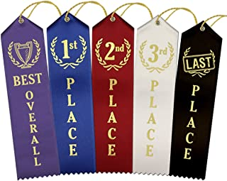Ideal Award Ribbon Set – 1 Best Overall, 4 Each 1st - 2nd - 3rd Place, 1 Last Place