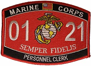 United States Marine Corps MOS 0121 Personnel Clerk MOS Military Patch - Veteran Owned Business