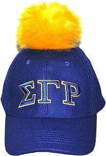 Big Boy Headgear Sigma Gamma Rho Blue 1922 Adjustable Baseball Cap with Gold Pom Pom