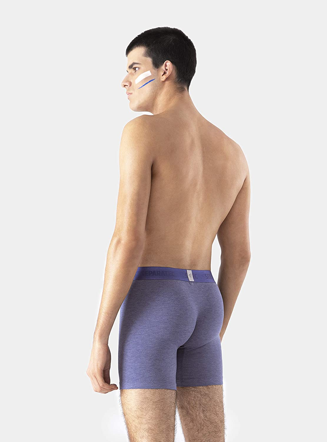 Separatec Men's Dual Pouch Underwear Soft Breathable Micro Modal Viscose Boxer Briefs or Trunks 3 Pack