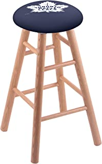 Holland Bar Stool Co. Oak Vanity Stool in Natural Finish with Toronto Maple Leafs Seat by The