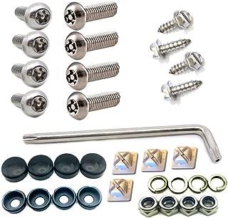 Anti Theft License Plate Screws- Tamper Resistant 304 Stainless Steel Plate Screws, 1/4-20 x 1
