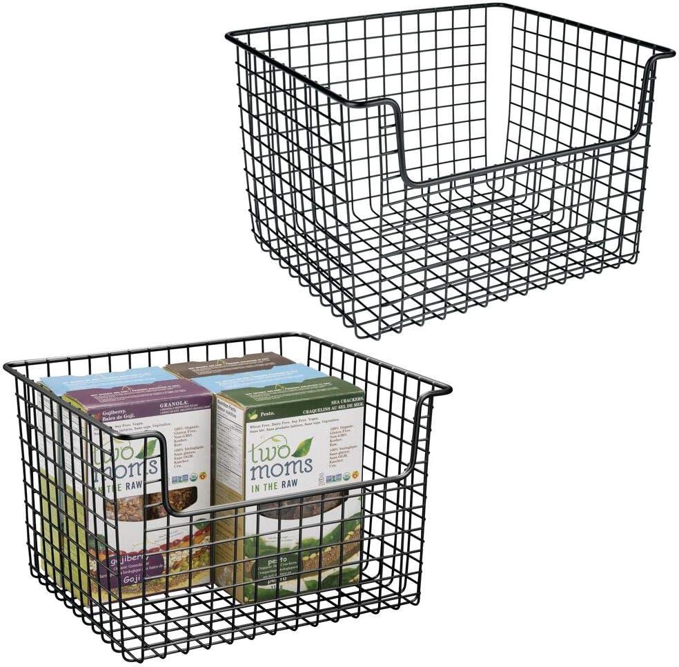 mDesign Metal Kitchen Pantry Food Organizer - Storage 至上 [正規販売店] Basket Far