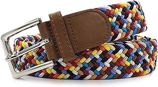 Gloop - Cinturón elástico unisex de tela trenzada, para hombre y mujer, ancho aprox. 3,5 cm, tamaño 105 cm, 110 cm, 115 cm...