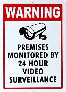 1 Pc Radiant Unique Security Signs Anti-Robber 24Hr Yard Sign Camera Alarm Decal Business Alert Window Under Cameras Protected Guardian Video Hr Surveillance Reflective Decals Size 10