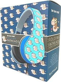 Folding Fatheads Sloth Riding Unicorn Stereo Headphones