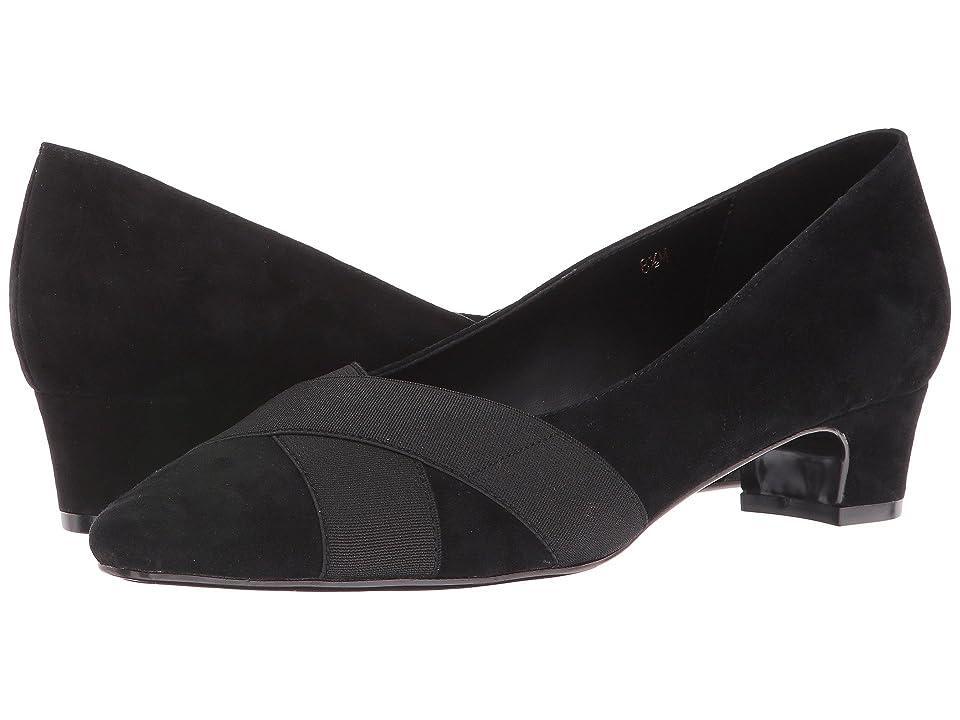 Vaneli Allure (Black Suede/Black Elastic) Women