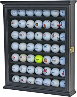 Sponsored Ad - 49 Golf Ball Display Case Cabinet Wall Rack Holder w/98% UV Protection Lockable