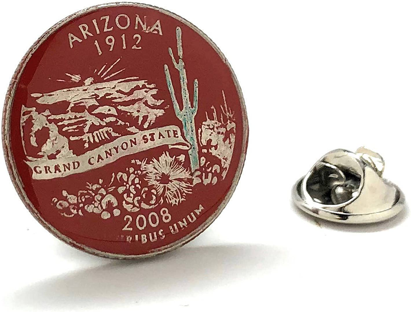 Arizona Coin Award-winning store Tie Tack Lapel Pin Desert Quarter Same day shipping Suit State Flag C