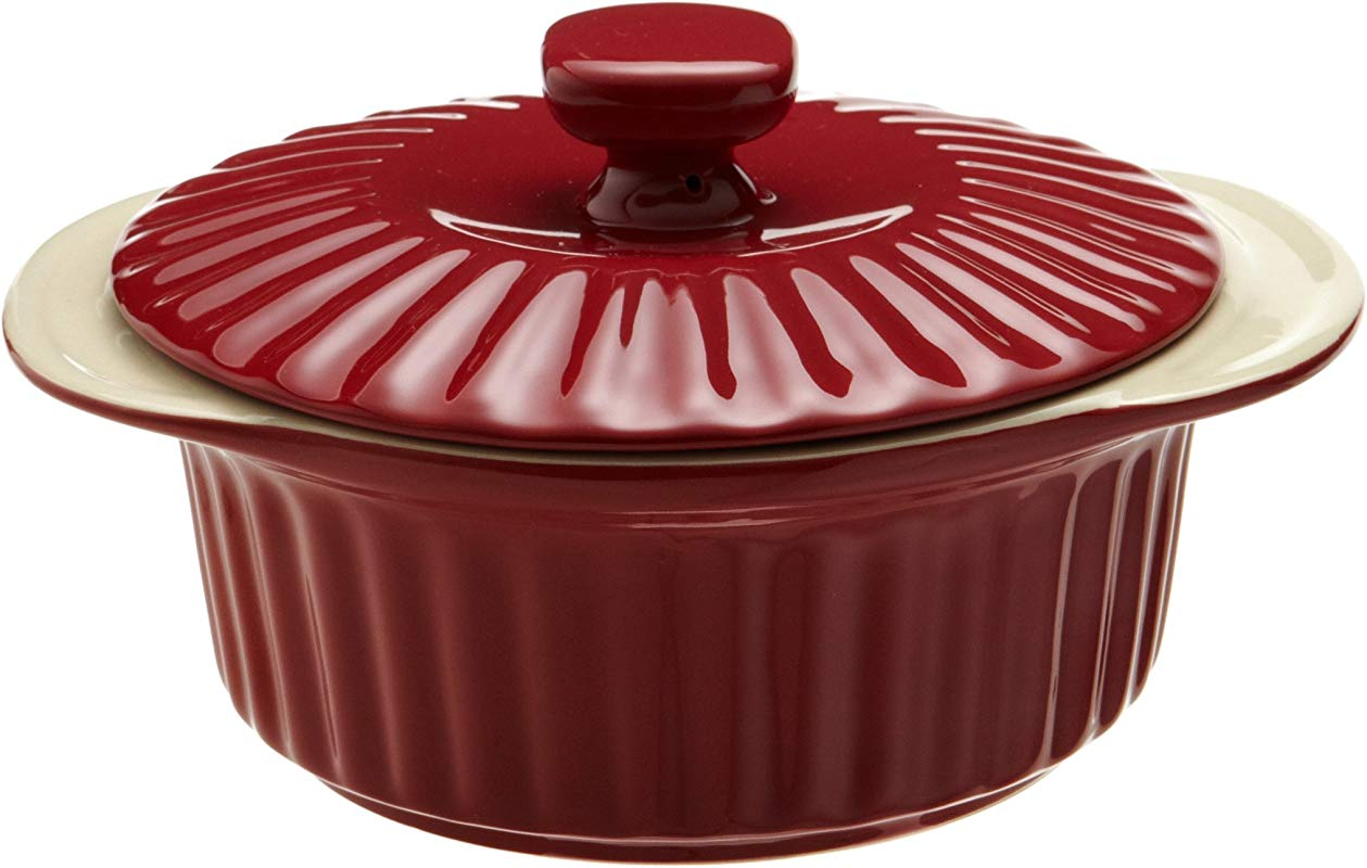 Good Cook 1 5 Quart Ceramic Covered Casserole Red