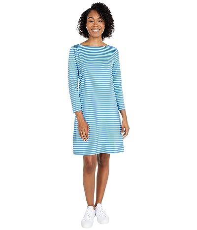 Vineyard Vines Sankaty Boatneck Shift Dress (Bimini Blue/White) Women