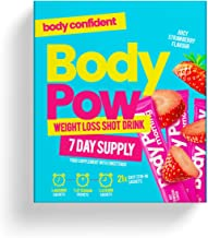 Body Pow Strawberry Weight Loss Shots With Clinically Approved Glucomannan Fibre for Appetite Reduction Fat Loss and Energy Formula Vegan safe Hunger-Busting Drinks Estimated Price : £ 11,95