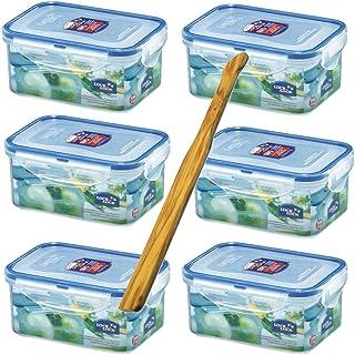 Lock & Lock Boîte de Rangement Alimentaire (6pièces) HPL 811, 600ML