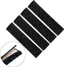 U_star 4 Pcs Universal Car Seat Belt Cover Pads Seat Belt Shoulder Strap Covers,Seat Belt Harness Pad for Car/Bag Sealbelt Cushion Help Protect Your Neck and Shoulder for Adult Women Men(Black)