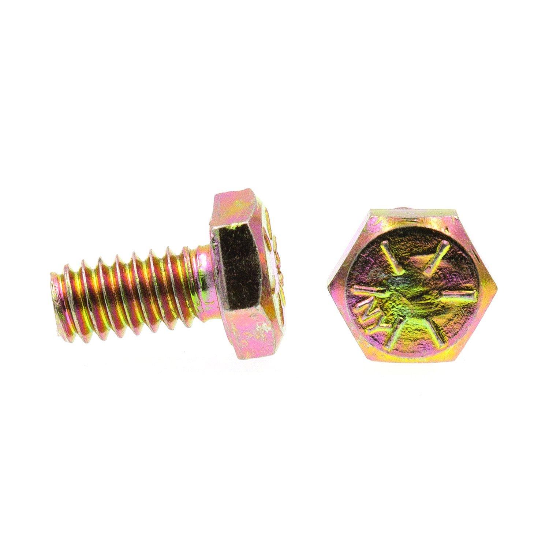 Grade 8 Yellow Zinc Plated Steel 1//4 in.-20 X 3 in. Grade 8 25-Pack Prime-Line 9104782 Hex Head Cap Screws