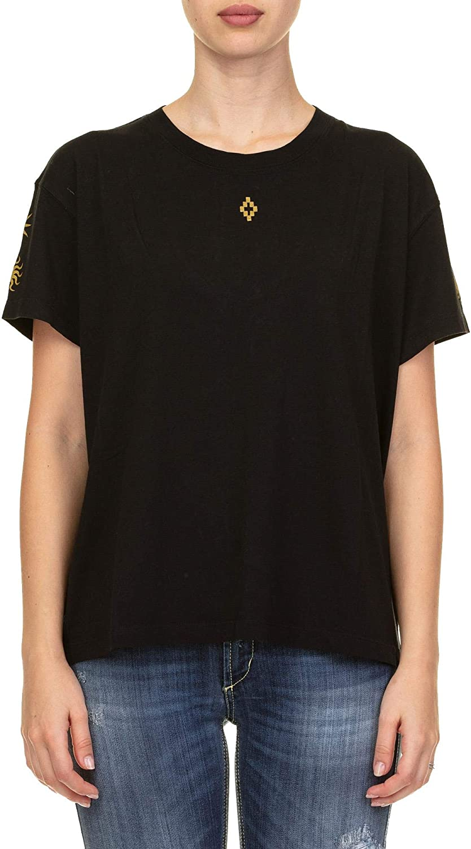 MARCELO BURLON Women's CWAA030F180471561093 Black Cotton TShirt
