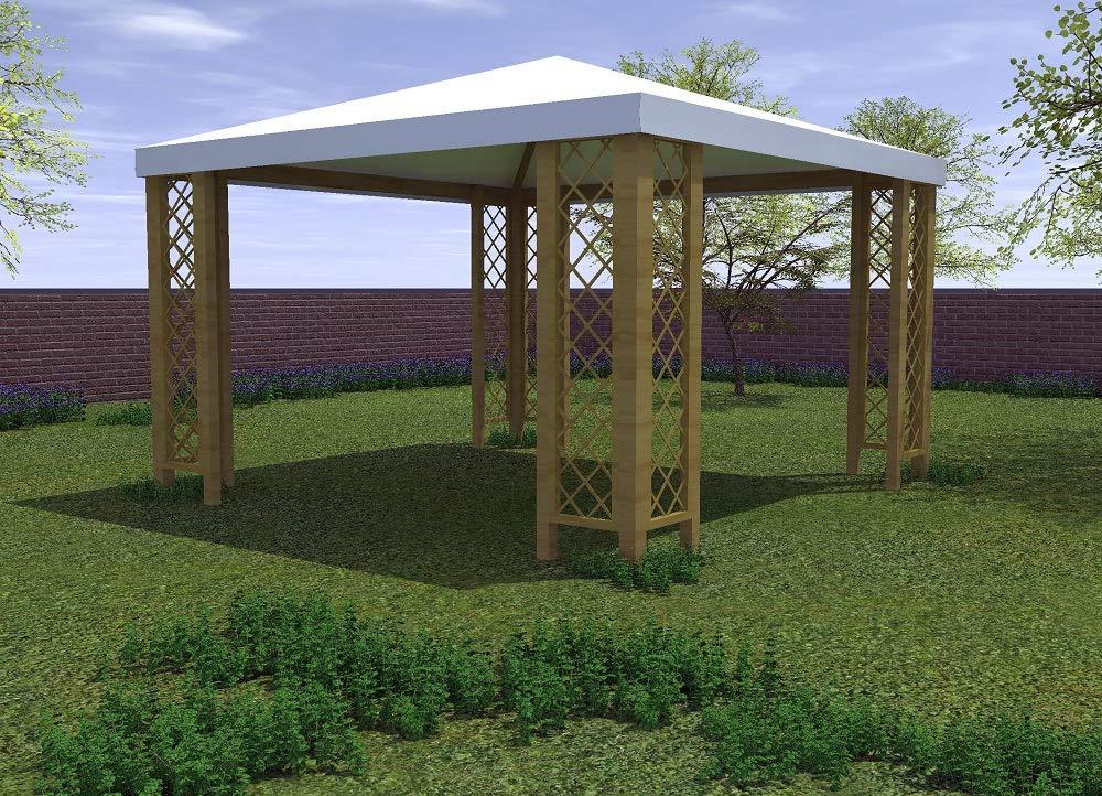 Salone Negozio Online Cenador de 3 x 3 m con Rejillas, de Madera ...