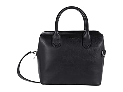 Matt & Nat Beige Dwell (Black) Satchel Handbags