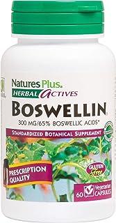 NaturesPlus Herbal Actives Boswellin - 300 mg, 65% Boswellic Acids, 60 Vegan Capsules - Natural Anti-Inflammatory Suppleme...