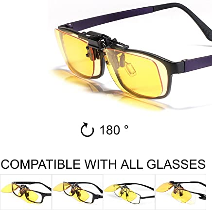 53255f50edb Klim OTG Blue Light Blocking Glasses Clip on - Blue Blocker Eyeglass Eyewear  - Block Blue