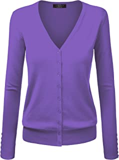Made By Johnny MBJ Womens Long Sleeve Button Down Classic Knit Cardigan Sweater