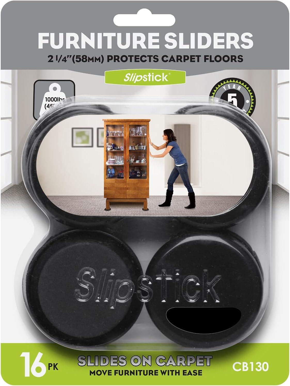 Slipstick CB130 Reusable Furniture Sliders Our shop most popular Finally popular brand for Carpet 16 Rugs