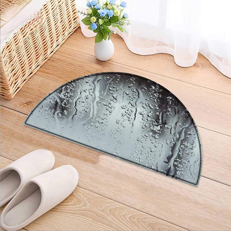 Semicircle Rug Kid Carpet A Raindrop Flowing Down The Glass Home Decor Foor Carpe W47 x H32 INCH