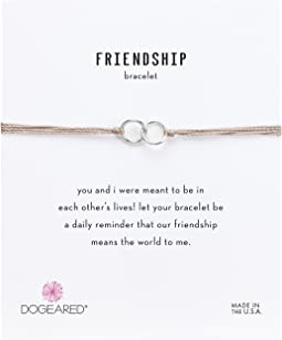 Friendship Double Linked Rings Silk Bracelet