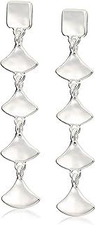 Lucky Brand Linear Fan Drop Earrings, Silver