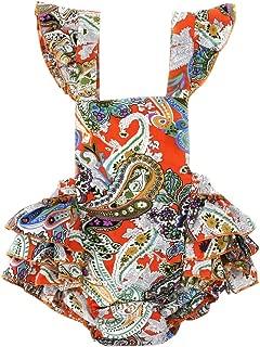 Wennikids Baby Girl's Summer Dress Clothing Ruffle Baby Romper