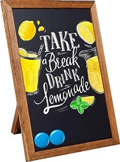 Standing Chalkboard Sign [11 x 14] - Premium Rustic Chalk Board, Wood Framed Chalkboard, Regular or Liquid Chalk Markers, Kitchen Countertop Sign, Tabletop Decorations for Wedding Birthday Bar Cafe