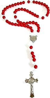 5 terços de são bento vermelho de bolso para rezar
