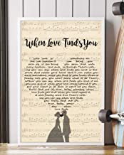 When Love Finds You Song Lyrics Portrait Poster Print Mattata Decor (16