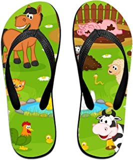 201fc89bf ROOMY Childish Fishes Flip Flops Funny Sandy Flat Thong Sandals Slipper Mat  Men Women