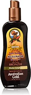Australian Gold Dark Tanning Accelerator Spray Gel With Bronzer, 8 Ounce