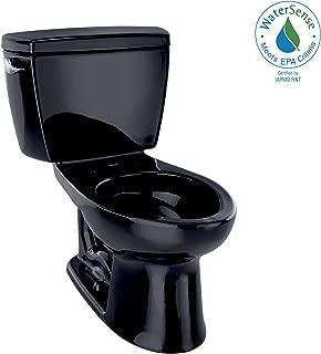 TOTO CST744EL#51 Eco Drake Two-Piece Elongated 1.28 GPF ADA Compliant Toilet, Ebony