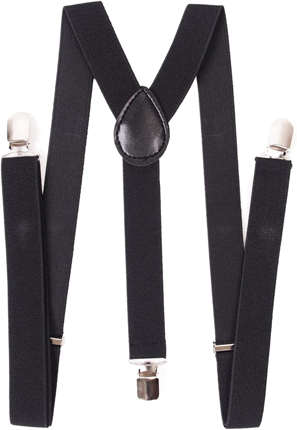 AJ Accessories Youth Boys Solid Nylon Suspenders Bla Adjustable Spasm price Popular shop is the lowest price challenge