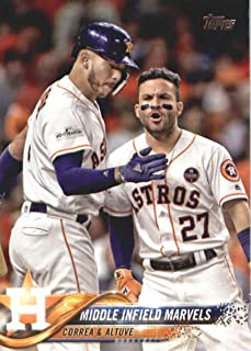 2018 Topps Baseball Series 2#361 Carlos Correa/Jose Altuve Houston Astros (Checklist) Official MLB Trading Card