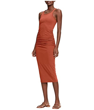 Michael Stars Racerback Dress w/ Shirring (Red Clay) Women