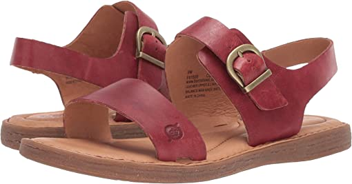 Red Full Grain Leather