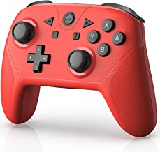 YTEAM Wireless Controller for Switch/Switch Lite,Wireless Switch Pro Controller Remote Gamepad Joystick with NFC/Turbo/ 6 ...