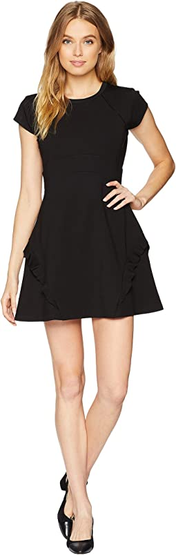 Knit Flirty Ruffle Ponte Dress