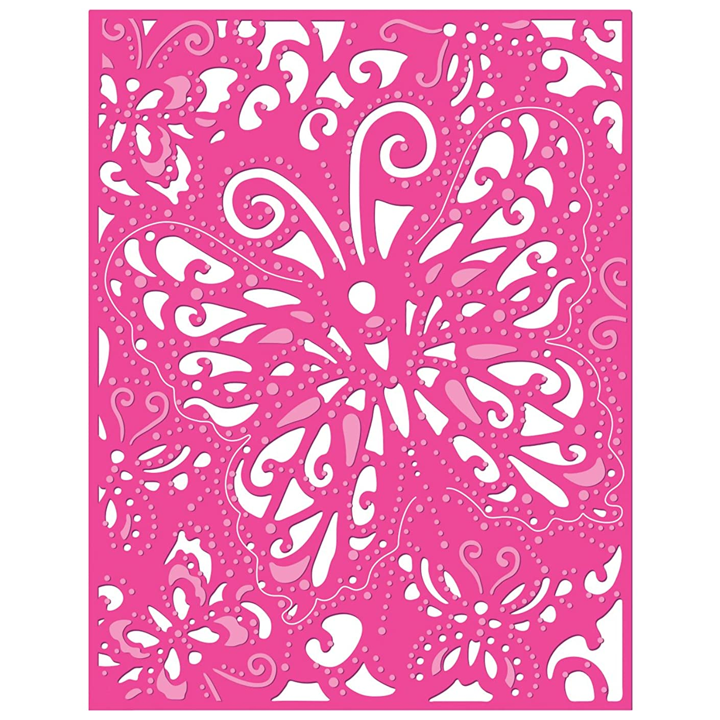 Crafter's Companion Die'sire Create-A-Card Cutting and Embossing Die-Lace Butterfly