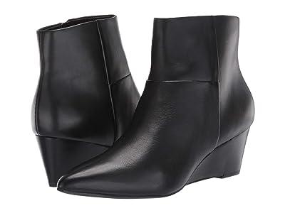 Cole Haan Eneida Wedge Bootie 55 mm (Black Leather) Women